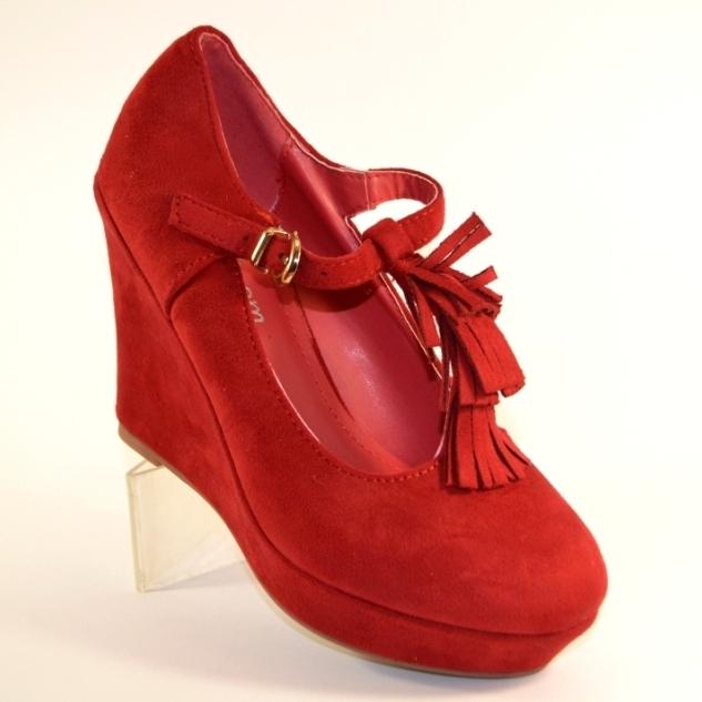 bcee539df Купить красные туфли Киев, купить женские туфли на танкетке недорого,  качественная польская обувь