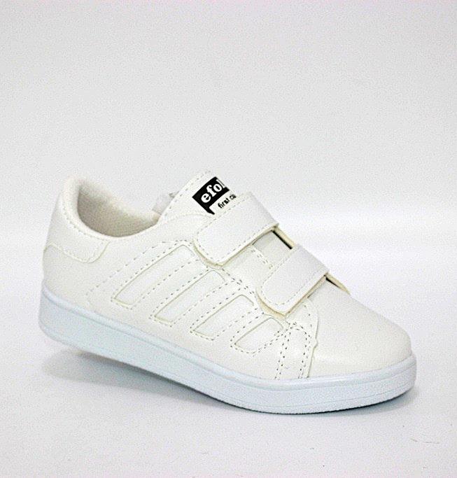 Купить Белые кроссовки на липучках для мальчика по смешным ценам Киев может с доставкой