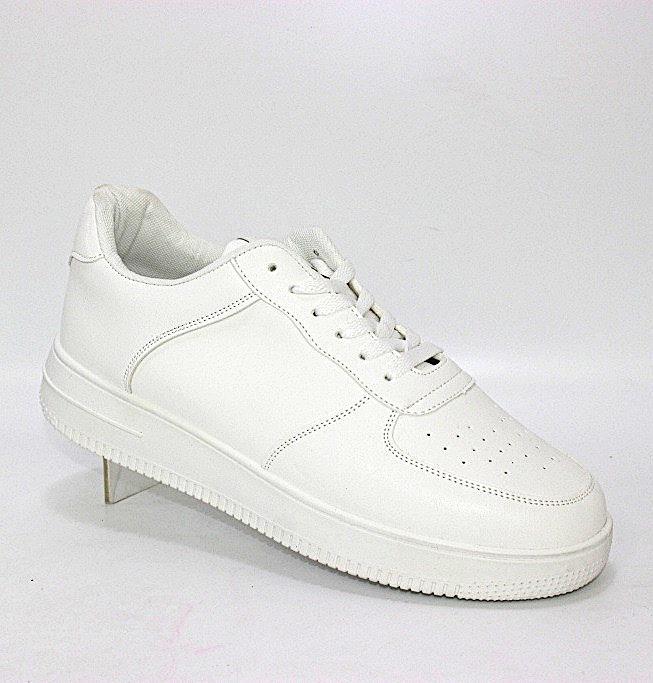 Купить белые кроссовки на плоской подошве размеры 40 41 42 43 44 45