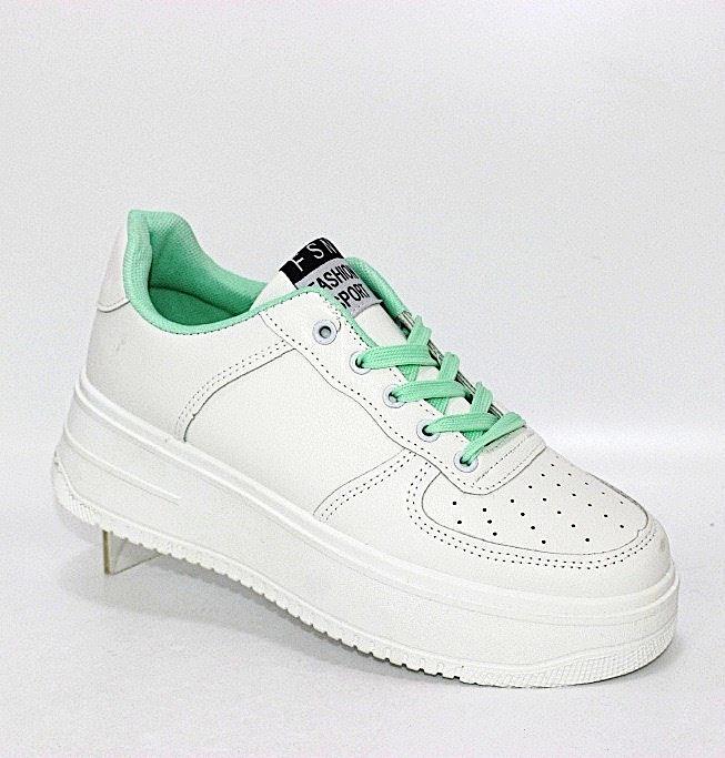 Женские белые кроссовки на толстой подошве в Киеве - купить в интернет магазине