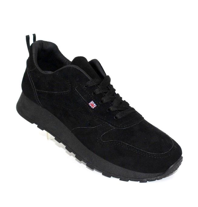 Замшевые женские чёрные кроссовки в Киеве - купить в интернет магазине