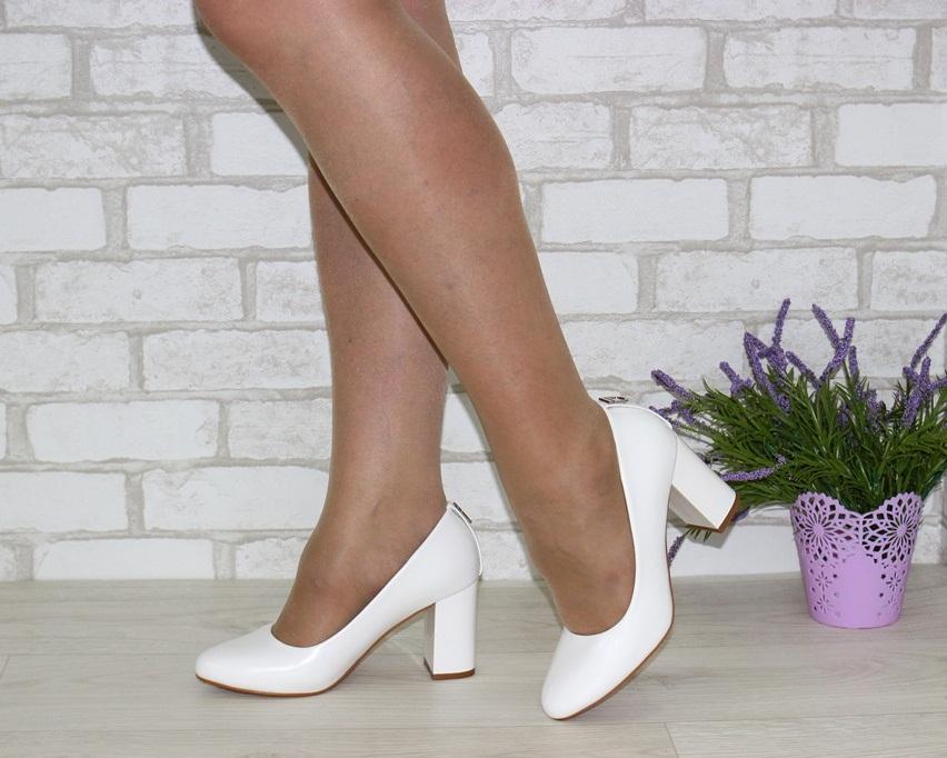 Женская модельная обувь Украина, туфли на каблуке белые, свадебные белые туфли 4