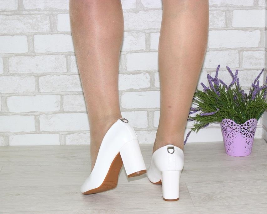 Женская модельная обувь Украина, туфли на каблуке белые, свадебные белые туфли 3