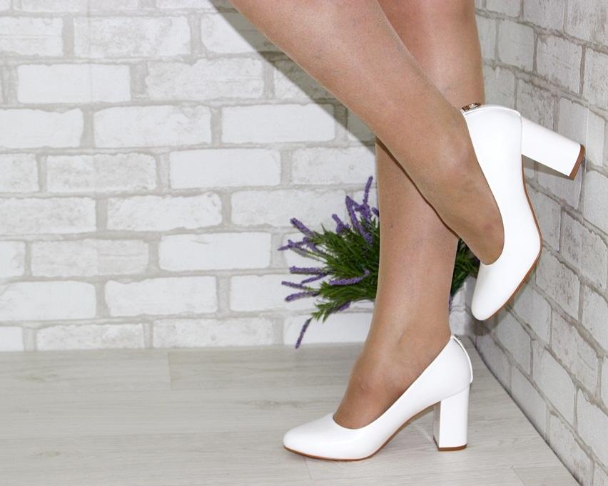 Женская модельная обувь Украина, туфли на каблуке белые, свадебные белые туфли 2