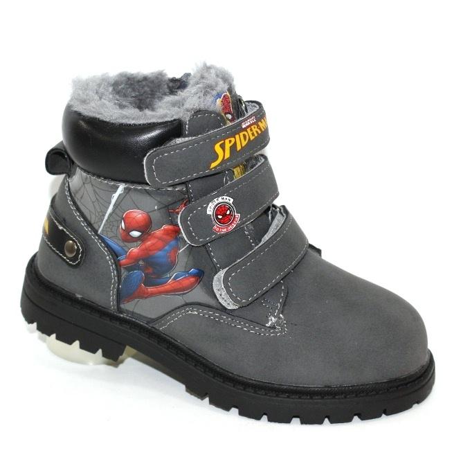 Зимние ботинки для мальчиков с подсветкой