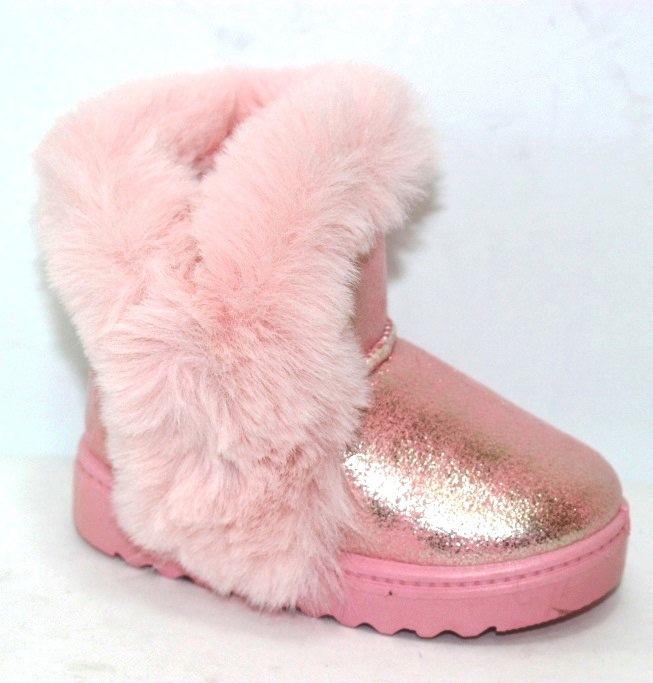 Нежно розовые детские угги для девочек