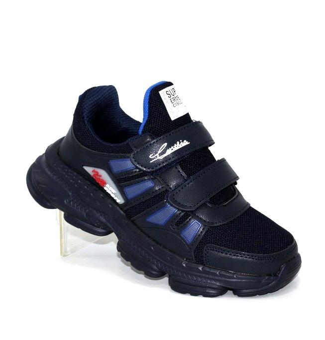 Купить синие кроссовки на липучках для мальчика WH273-3B по смешным ценам Киев может с доставкой