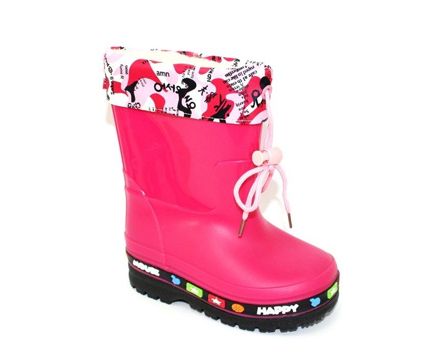 Купити дитячі гумові чоботи, силіконові чобітки для дівчинки