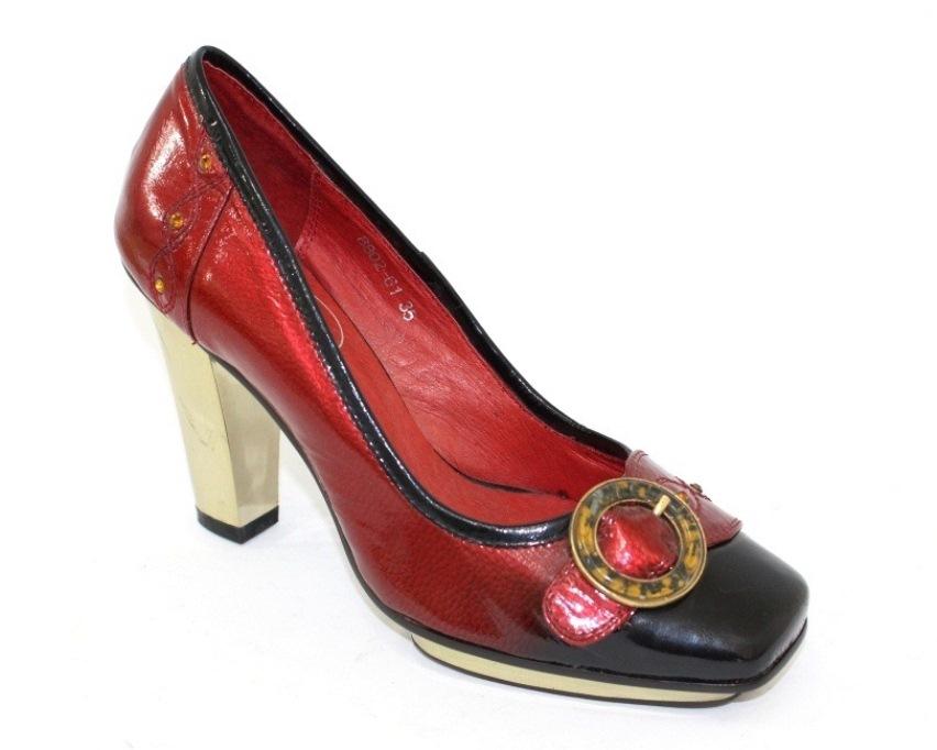 купить женские туфли красного цвета, женская обувь на каблуке 8802-61