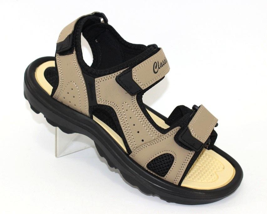 Мужские коричневые босоножки недорого в Киеве, купить сандали для мужчин, мужские сандалии Украина 1