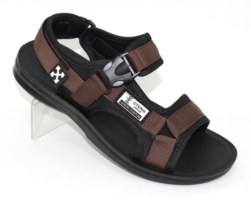Спортивные босоножки на липучках, купить спортивные босоножки в Киеве недорого, летняя мужская обувь 1