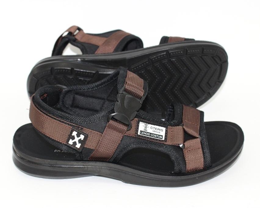 Спортивные босоножки на липучках, купить спортивные босоножки в Киеве недорого, летняя мужская обувь 9