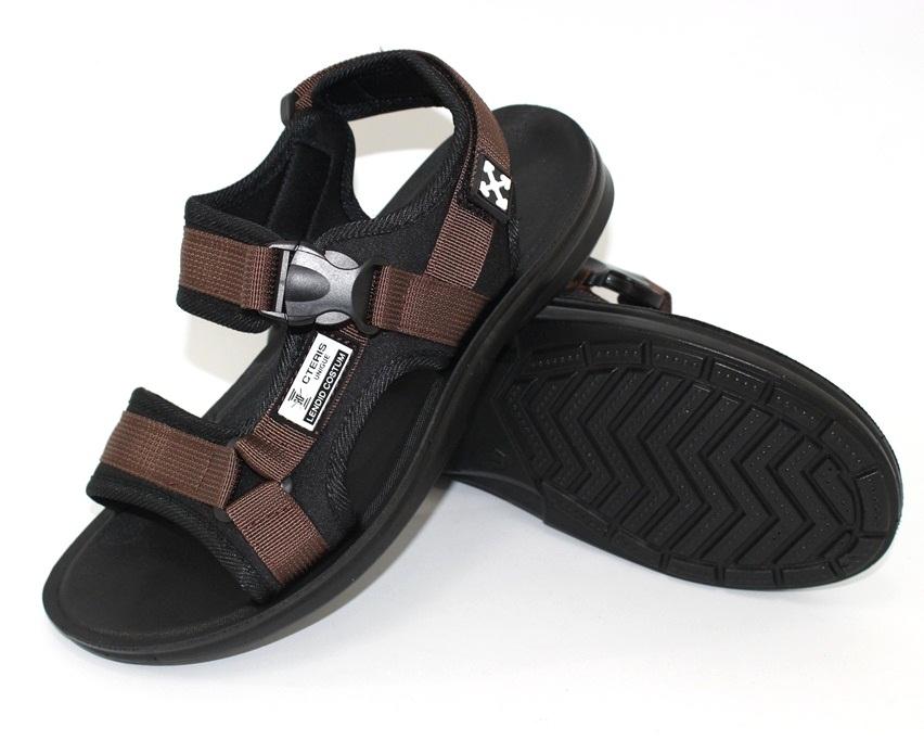 Спортивные босоножки на липучках, купить спортивные босоножки в Киеве недорого, летняя мужская обувь 5