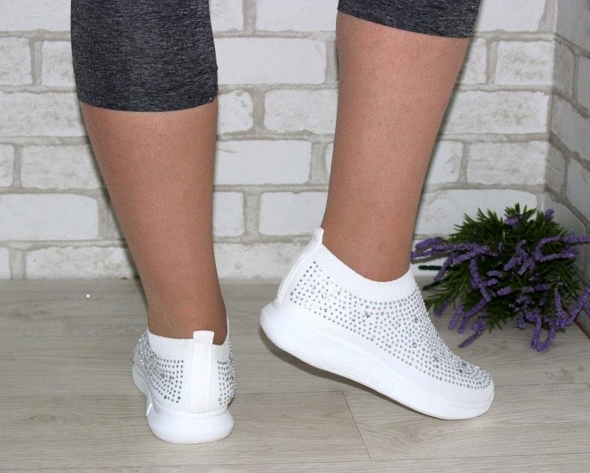 Текстильные летние белые кроссовки 111-260 в Киеве - купить в интернет магазине 4