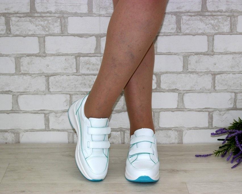 Белые женские кроссовки на липучках 8866-1 в Киеве - купить в интернет магазине 3