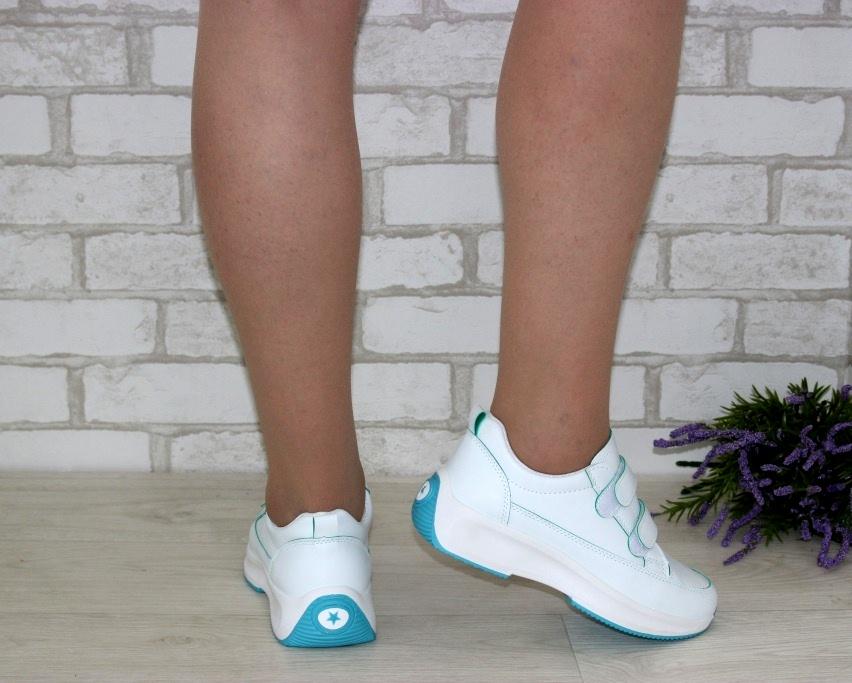 Белые женские кроссовки на липучках 8866-1 в Киеве - купить в интернет магазине 4