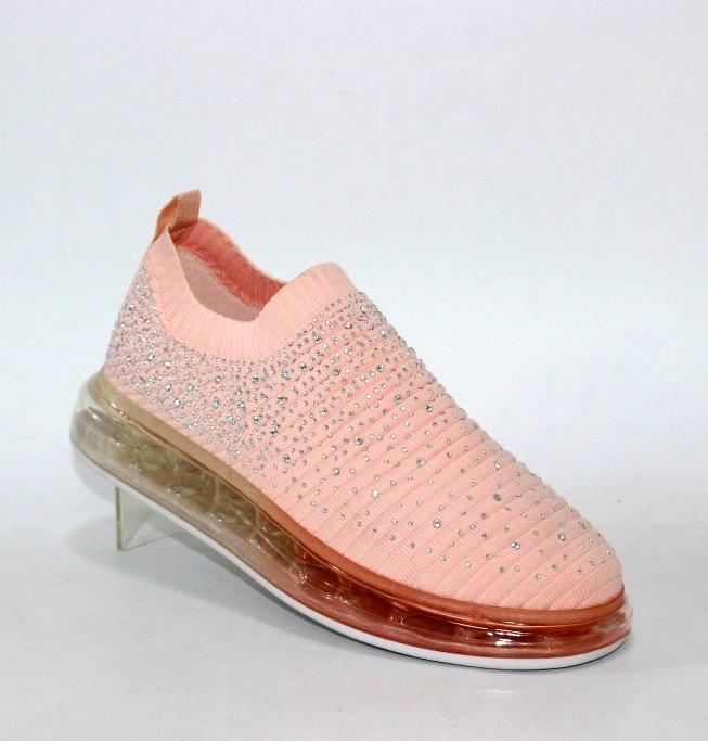Женские розовые трикотажные кроссовки 127-8-Pink в Киеве - купить в интернет магазине