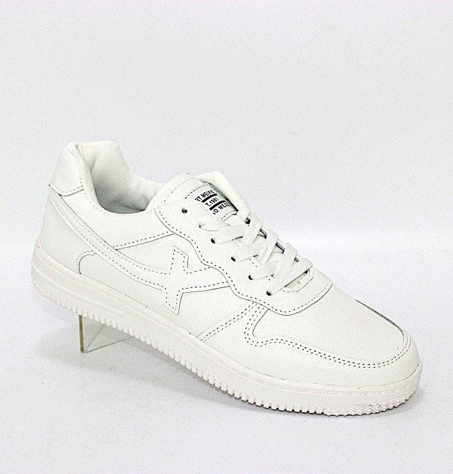 Белые женские кроссовки на лёгкой подошве из пены ЭВА