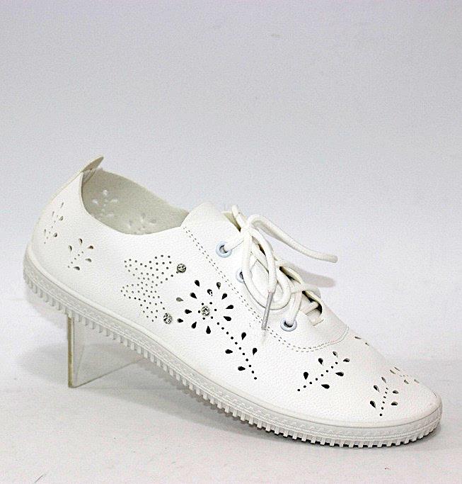 Мягкие женские летние туфли в дырочку