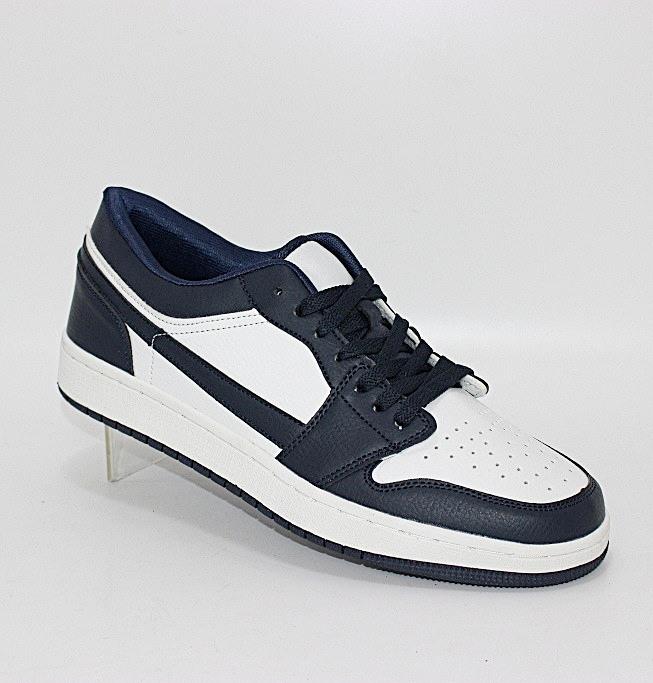 Мужские низкие сине белые кроссовки бренд Навигатор