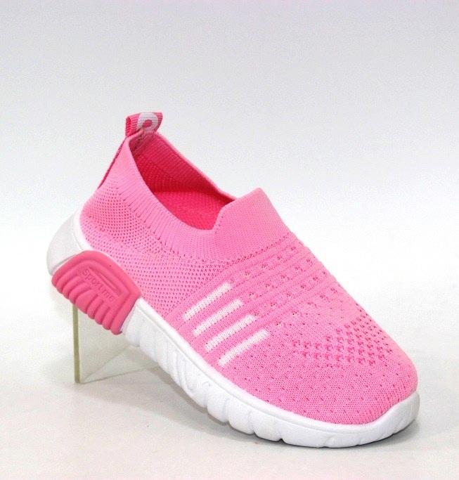 Купить розовые трикотажные кроссовки для девочки GA8-4 в Киеве и Украине спортивная обувь кроссовки кеды киев