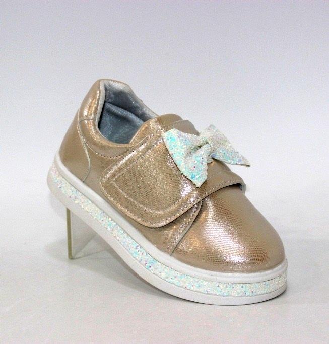 Купить золотые детские кроссовки на липучках H1569-1 в Киеве и Украине спортивная обувь кроссовки кеды киев