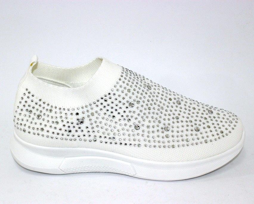 Текстильные летние белые кроссовки 111-260 в Киеве - купить в интернет магазине 5