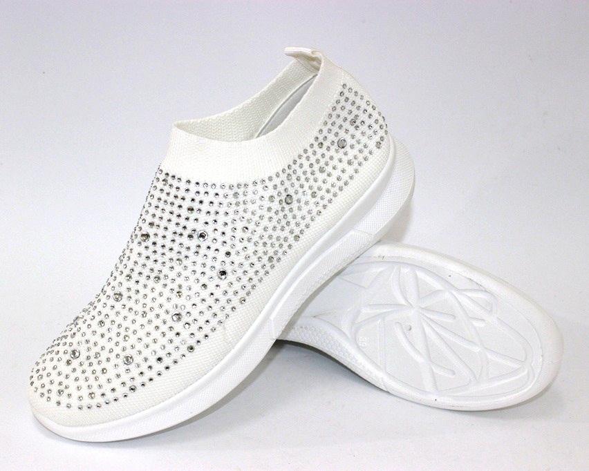 Текстильные летние белые кроссовки 111-260 в Киеве - купить в интернет магазине 6