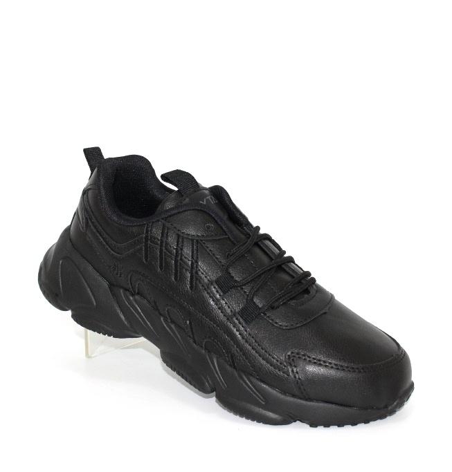 Підліткові чорні осінні кросівки на легкої підошві з піни ЕВА