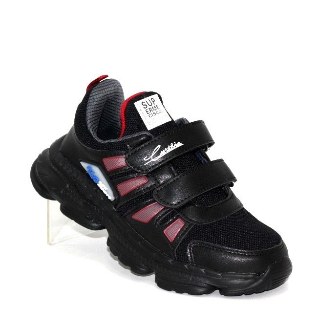 Купить чёрные кроссовки на липучках для мальчика WH273-3A по смешным ценам Киев может с доставкой