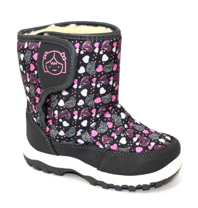 Купить зимнюю обувь для девочек, тёплые детские дутики по доступной цене