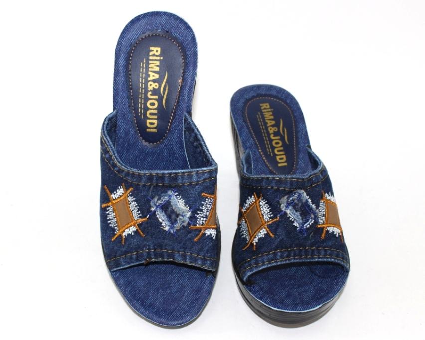 Джинсовые шлёпанцы недорого в Киеве, купить джинсовую летнюю обувь, женская летняя обувь Украина 5