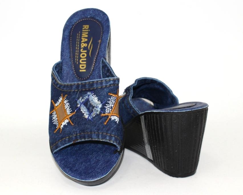 Джинсовые шлёпанцы недорого в Киеве, купить джинсовую летнюю обувь, женская летняя обувь Украина 7