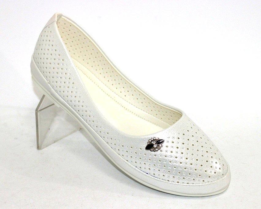 купити білі жіночі літні туфлі в Києві, інтернет-магазин взуття літні жіночі балетки