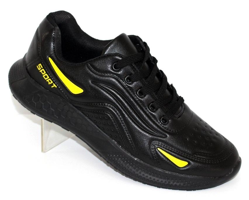 Мужские кроссовки на толстой подошве G225 чёрно-жёлтые - купить в интернет магазине по доступной цене в Украине