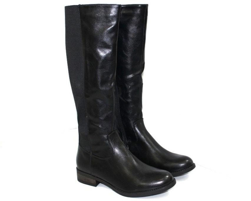 Коричневые сапоги купить недорого в Киеве, женская осенняя обувь, купить осенние сапоги