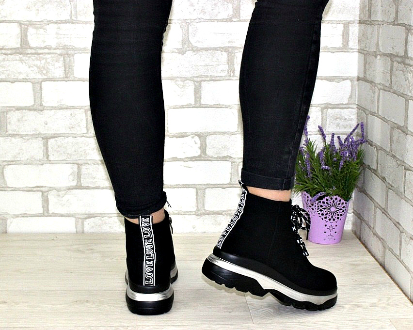 Молодёжные демисезонные полусапожки купить в Киеве, женская демисезонная обувь Украина 4