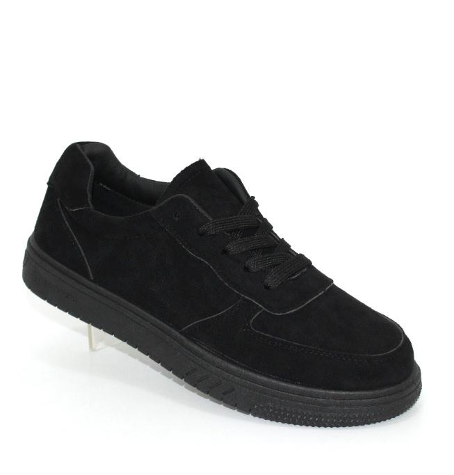 Женские чёрные замшевые кроссовки в Киеве - купить в интернет магазине