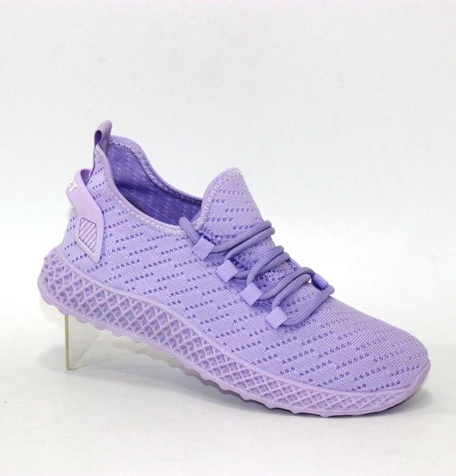 светлые сиреневые текстильные кроссовки для женщин