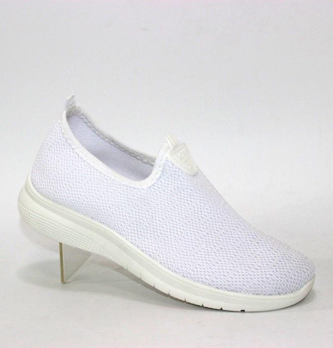 белые кроссовки-слипоны из трикотажа E6 белый в Киеве - купить в интернет магазине