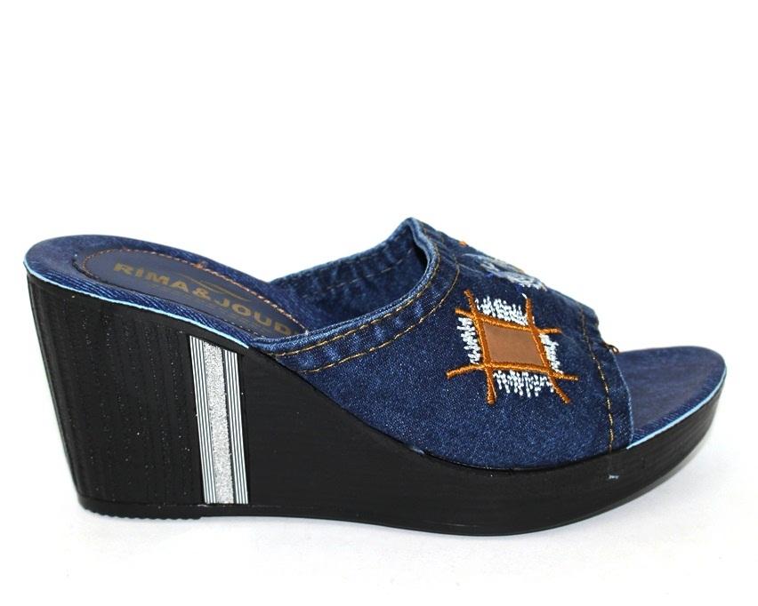 Джинсовые шлёпанцы недорого в Киеве, купить джинсовую летнюю обувь, женская летняя обувь Украина 6