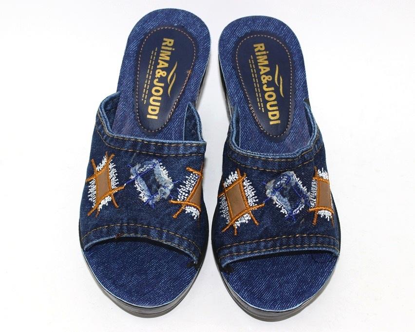 Джинсовые шлёпанцы недорого в Киеве, купить джинсовую летнюю обувь, женская летняя обувь Украина 8