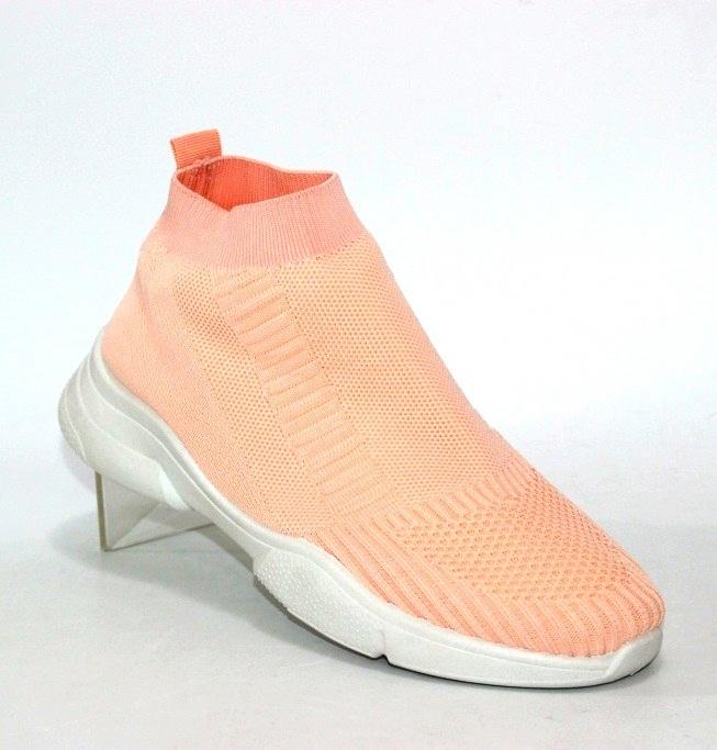 розовые женские кроссовки носки E6-B5 в Киеве - купить в интернет магазине