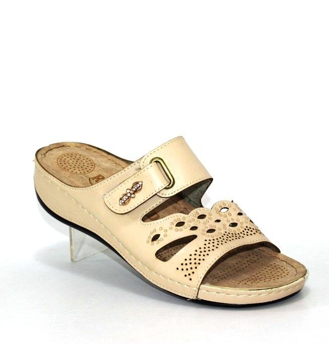 Купить шлепанцы SELENA R480-03-бежевый. Женская обувь - Туфелек
