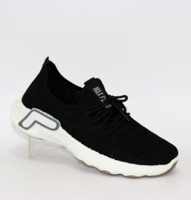 Мужские трикотажные кроссовки 006-black - купить в интернет магазине по доступной цене в Украине