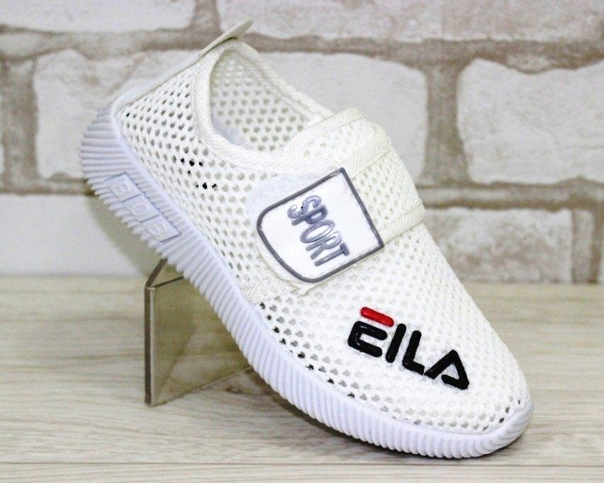 0486f6f2 Купить Летние детские белые кроссовки на липучках F1818-3 в Киеве и Украине  спортивная обувь кроссовки кеды киев