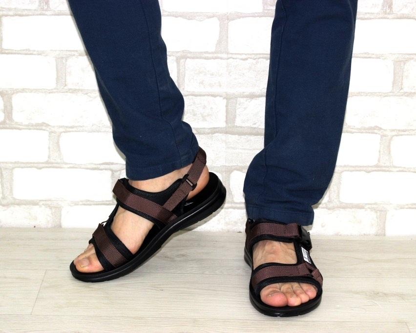 Спортивные босоножки на липучках, купить спортивные босоножки в Киеве недорого, летняя мужская обувь 2