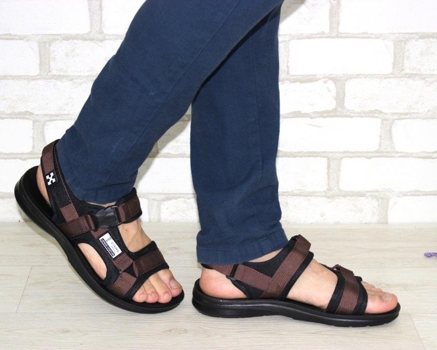 Спортивные босоножки на липучках, купить спортивные босоножки в Киеве недорого, летняя мужская обувь 3