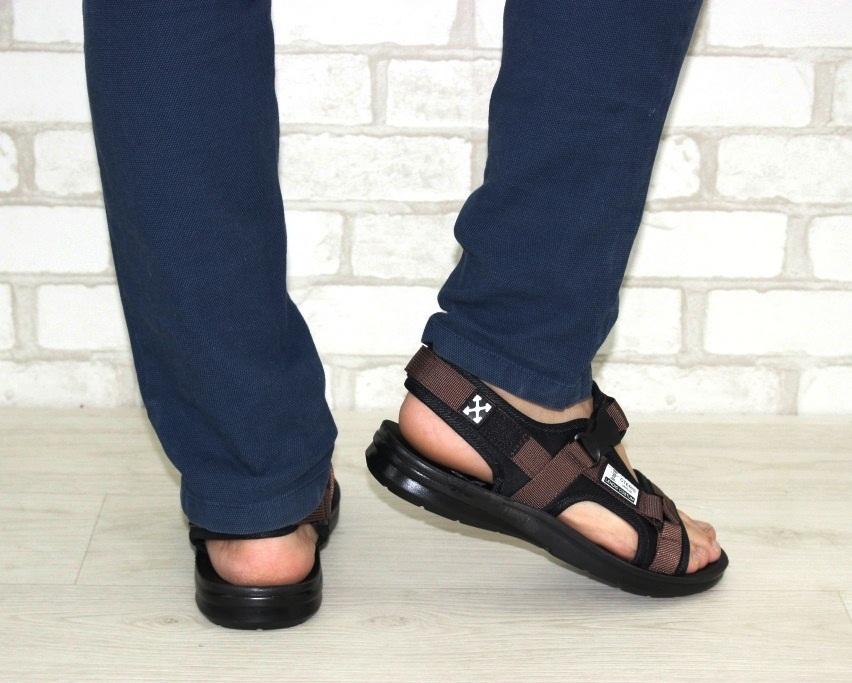 Спортивные босоножки на липучках, купить спортивные босоножки в Киеве недорого, летняя мужская обувь 4
