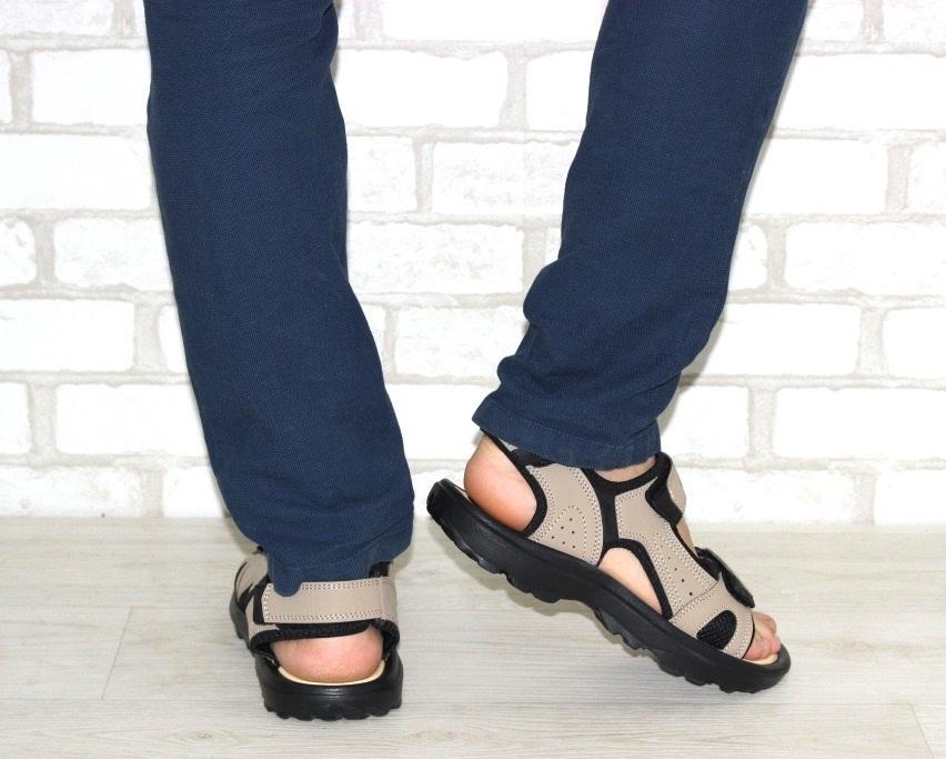 Мужские коричневые босоножки недорого в Киеве, купить сандали для мужчин, мужские сандалии Украина 4